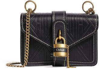 Chloé Leather Aby Chain Patterned Shoulder Bag