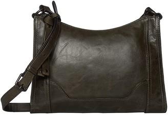 Frye Melissa Zip Crossbody (Beige Antique Pull Up) Cross Body Handbags