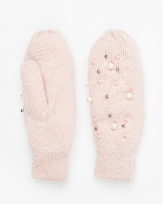 Le Château Embellished Knit Mittens