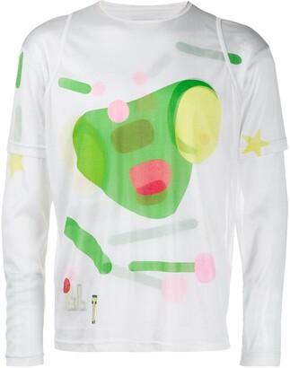 Walter Van Beirendonck Pre Owned 1996's Killer Astral Travel 4 D-Hi-D three-layered T-shirt