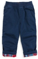 Tea Collection Infant Boy's Flannel Lined Pants