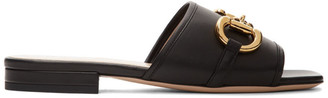 Gucci Black Horsebit Sandals