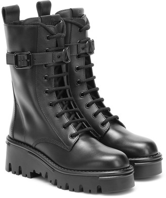 Valentino Campsite leather combat boots