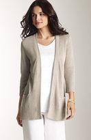 J. Jill Easy linen open-front cardigan