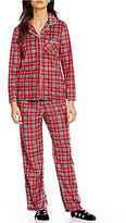 Karen Neuburger Holiday Plaid Microfleece Pajamas & Socks Set