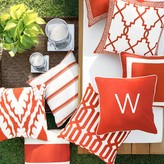 Williams-Sonoma Williams Sonoma Outdoor Printed Saint Tropez Ikat Pillow, Melon