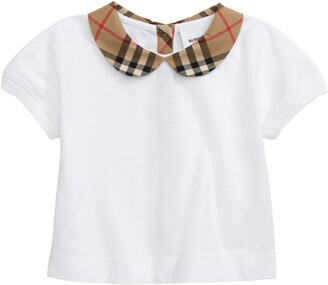 Burberry Mini Della Peter Pan Collar Shirt