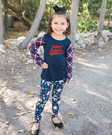 Beary Basics Navy 'Team Santa' Tee & Santa Leggings - Toddler & Girls