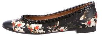 Givenchy Butterfly Magnolia Floral Print Flats