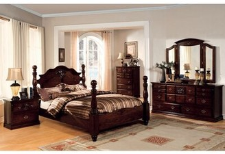 Canora Grey Sebbie California King Four Poster Bed