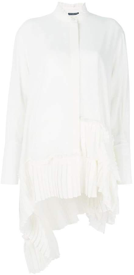 Alexander McQueen pleated asymmetric blouse