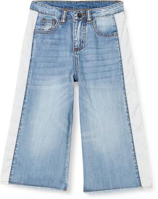 MEK Girl's Pantacoulotte Jeans Bicolor