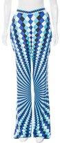 Mary Katrantzou Silk Harlequin Printed Pants w/ Tags
