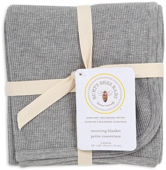 Burt's Bees Solid thermal Organic Baby Receiving Blanket