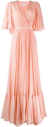 Giambattista Valli Wrap-Front Long Gown