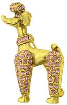 1928 Jewelry Gold-Tone Poodle Pin with Pink Swarovski Crystals