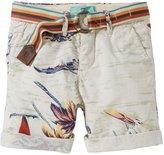 Scotch & Soda Kids Palm Tree Bermuda Shorts (Kid) - White Print-8
