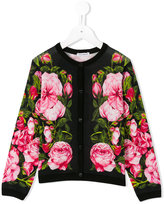 Dolce & Gabbana rose pattern cardigan - kids - Silk - 6 yrs