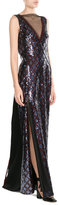 Marc Jacobs Floor Length Sequin Embellished Gown