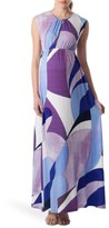 Pietro Brunelli Women's 'Alassio' Graphic Maternity Maxi Dress