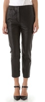 Yigal Azrouel Leather Slouchy Pants