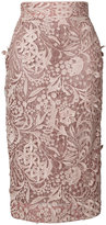 J. Mendel guipure lace pencil - women - Organic Cotton - 2