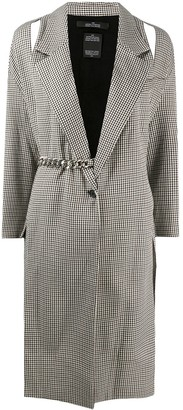 Rokh Duster Jacket With Cut-Out And Chain-Link Detail