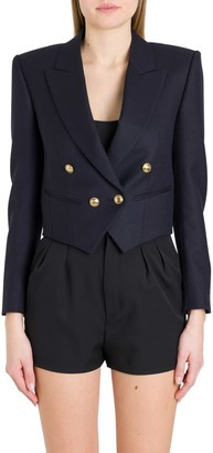 Saint Laurent Double-breast Cropped Blazer