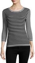 Karl Lagerfeld Women's Strip Knit Sweater