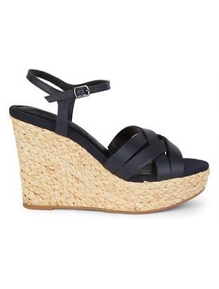 Splendid Madelaine Leather Wedge Sandals