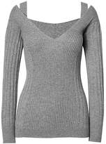 Banana Republic Fine Italian Superloft Ribbed Off-Shoulder Vee