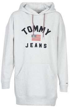 Tommy Jeans TJW LOGO HOODIE DRESS women's Dress in Grey