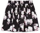 Kate Spade Girls' Smocked Floral Print Skirt - Little Kid