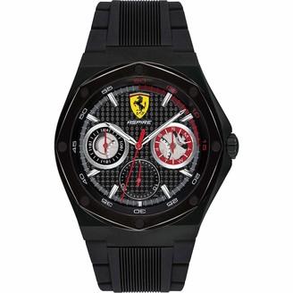 Ferrari Men's Aspire Quartz Black IP and Silicone Strap Casual Watch