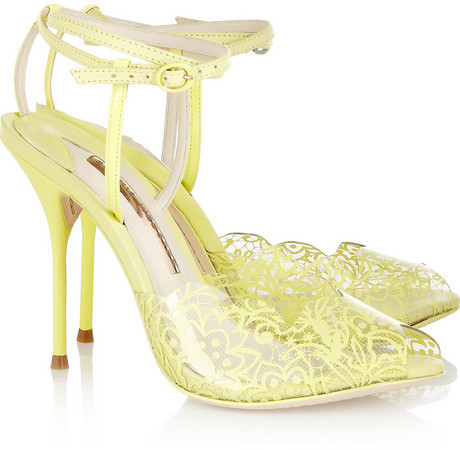 Webster Sophia Kiki lace-print PVC and leather sandals