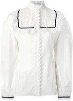 Gucci pleat and frill yoke blouse - women - Cotton/Polyester - 40