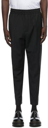 Études Black Wool Jalousie Trousers