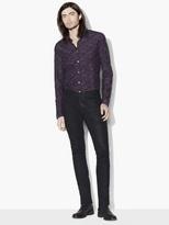 John Varvatos Washed Silk Paisley Shirt