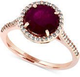 Effy Rosa by Ruby (2-5/8 ct. t.w.) and Diamond (1/5 ct. t.w.) Ring in 14k Rose Gold