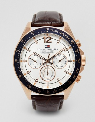 Tommy Hilfiger Luke leather strap watch 1791118