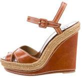 Christian Louboutin Jute-Accented Platform Sandals