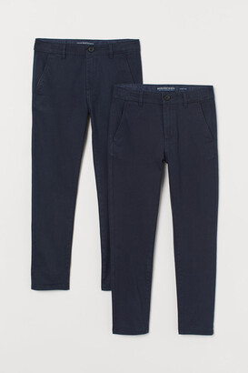 H&M 2-pack Cotton Chinos - Blue