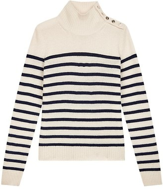Maje Montsi Striped Cashmere Sweater