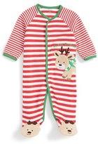 Little Me Reindeer Stripe Footie (Baby Boys)