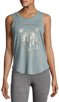 Spiritual Gangster All My Stars Muscle Tank Top, Sage
