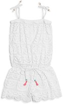 Pilyq Girls' Drawstring Lace Romper - Big Kid