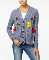 One Hart Juniors' Marled Patch Cardigan, Only at Macy's