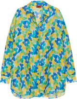 Missoni Printed silk-muslin shirt