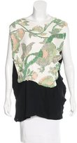 Narciso Rodriguez Silk-Accented Embellished Top