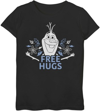 Disney Disney's Frozen 2 Girls 7-16 Olaf Free Hugs Foliage Poster Graphic Tee